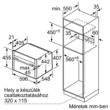 Kompakt beépíthető sütő mikrohullámmal C17MS22N0