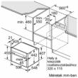 Kompakt beépíthető sütő mikrohullámmal C15MR02N0