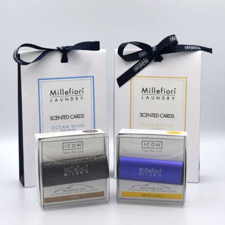 Millefiori 2db autóillatosító + 2db szekrényillatosító