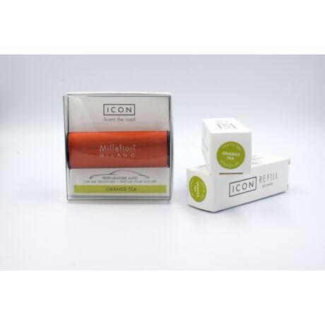 Millefiori autóillatosító + 2db utántöltő Orange Tea
