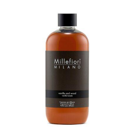 Millefiori Natural Vanilla & Wood utántöltő 500ml